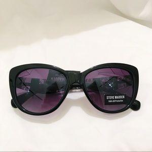 Steve Madden Black Lace Print Sunglasses